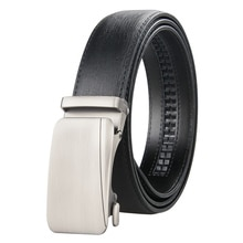 Leather Business Men Belt Alloy Automatic Buckle Luxury Leather Strap Belt for Men High Quality