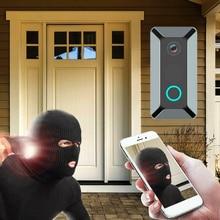 Timbre de puerta inalámbrico inteligente, videoportero de seguridad para el hogar V5 WiFi, videoportero remoto