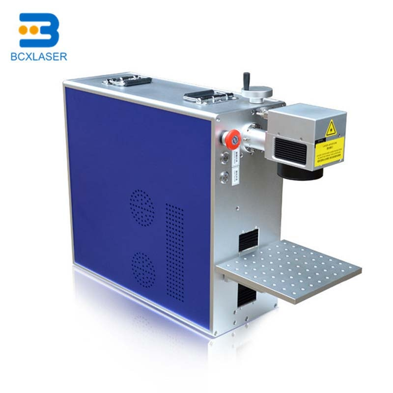 30W50WPortable Fiber Laser Marking Machine for metal jewelry with rotary