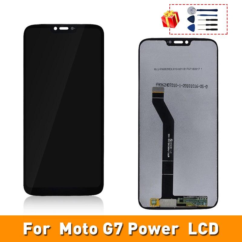 Para Motorola Moto G7 de LCD XT1955 Digitalizador de pantalla táctil de reemplazo de parte de la Asamblea para Motorola Moto G7 de XT1955 LCD