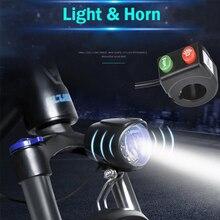 12-80V Wu xing Ebike phare avec klaxon et haut-parleur commutateur de Scooter électrique utilisé pour Xiaomi m365 klaxon de lumière de vélo électrique