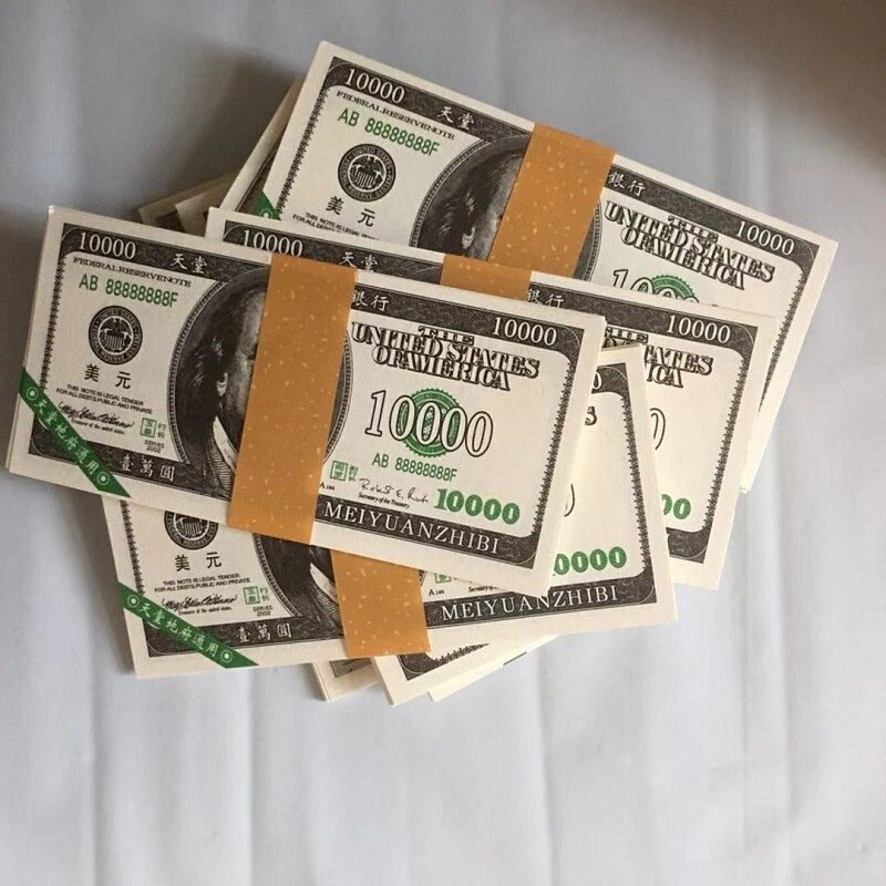 150pcs/set Ancestor Money Heaven Hell Bank Notes Dollar USD Joss Paper Ghost Money Paper Money Honoring Ancestors 15x7.5cm