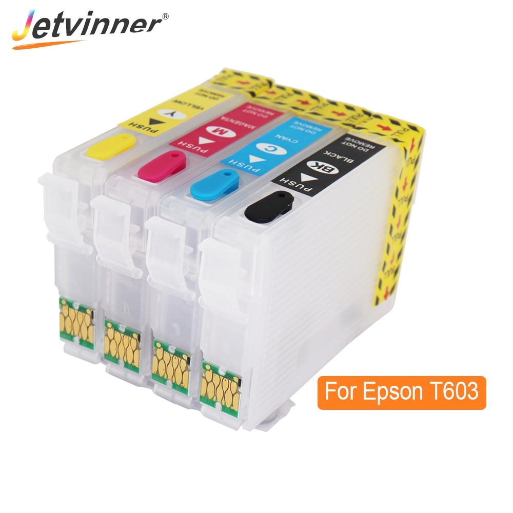 T603 603XL cartucho de tinta rellenable para Epson XP-2100 XP-2105 XP-3100 XP-3105 XP-4100 XP-4105 WF-2810 WF-2830 para Europa de la impresora