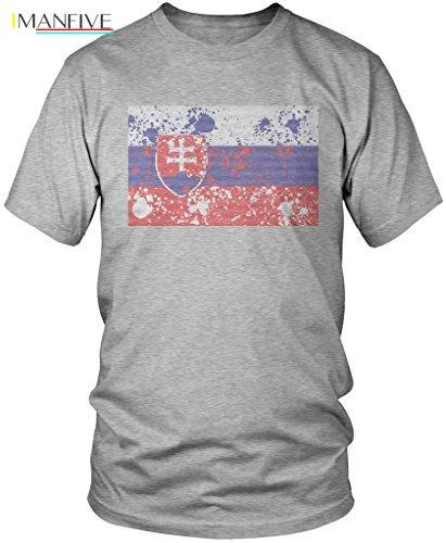 2019 camisetas de marca de verano para hombre, camisetas de cuello redondo, Bandera de eslovaco desgastadas abstractas, camiseta para hombre