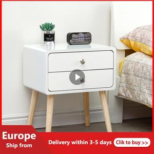 Solid Wood Bedside Table Simple Bedroom Small Apartment Bedside Creative Storage Cabinet Nordic Economy Mini European Locker HWC