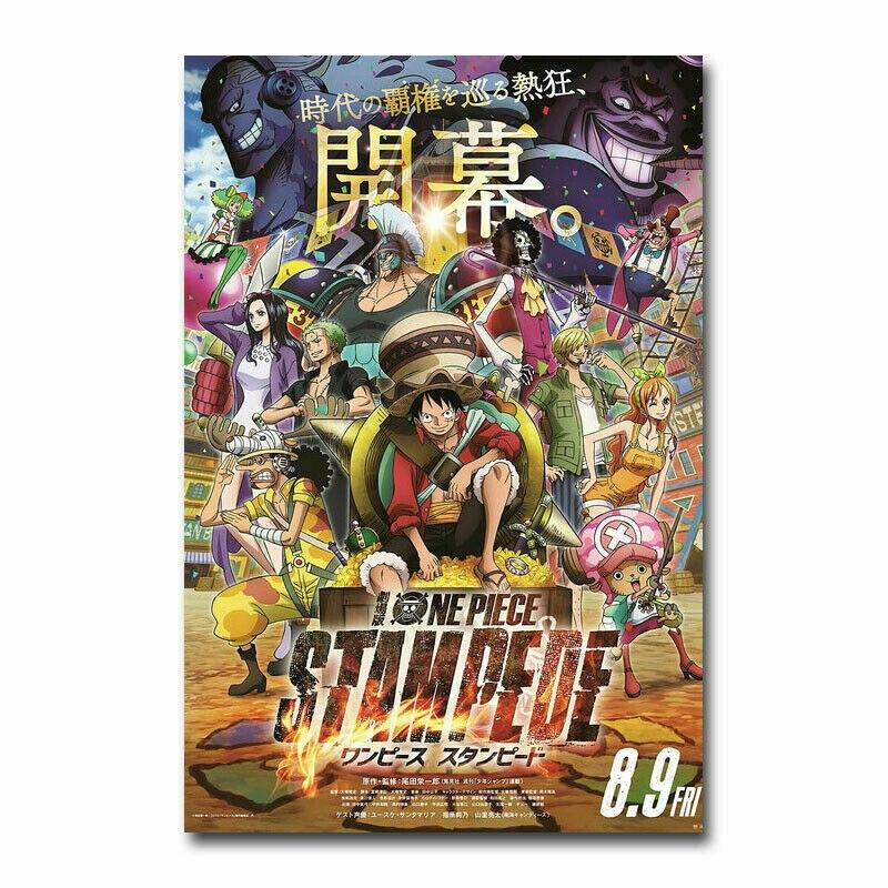 Uma peça stampede filme japonês de seda tecido parede cartaz arte decoração adesivo brilhante
