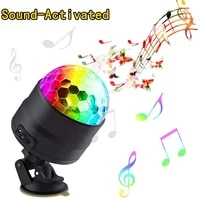 rgb disco party lights usb led bar stage karaoke xmas sound activated dj projector strobe lamp for car home party ktv dance hall