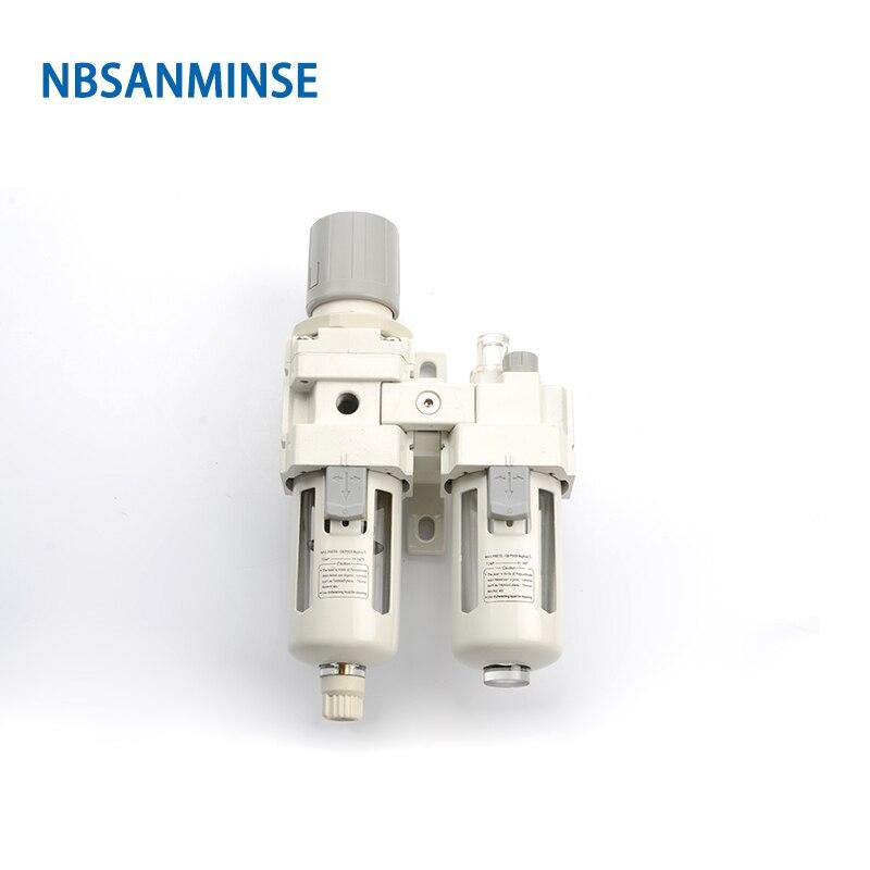 NBSANMINSE AC3010 G3/8 AC4010 G1/2, separador de agua y aceite, regulador, componentes neumáticos, separador de agua y aceite, Tipo SMC