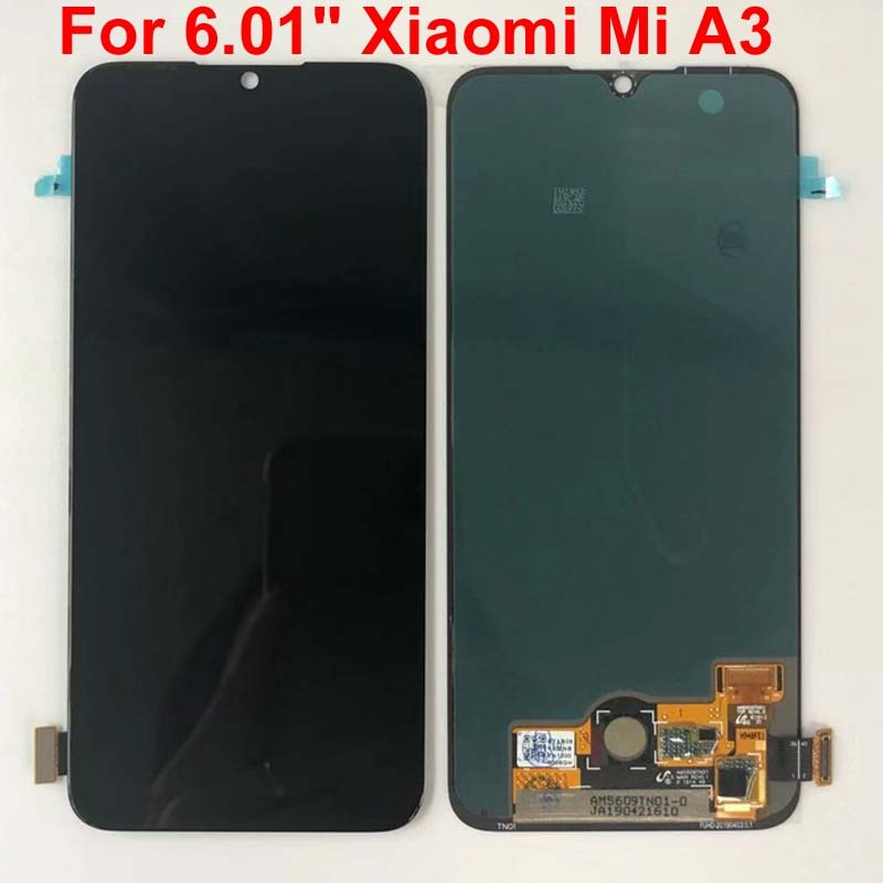 "Original, Super AMOLED para Xiaomi Mi A3, montaje de digitalizador con pantalla táctil, piezas de repuesto de 6,01 ""para Xiaomi Mi CC9e LCD"