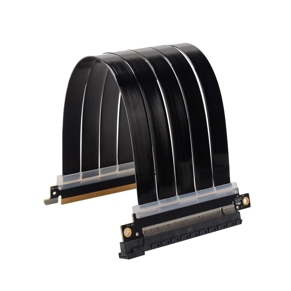 بطاقة جرافيكس تمديد كابل بكيي 4.0x16 إلى 16x الناهض PCI-e ITX الشاسيه مستقيم 16GT \ S سرعة كاملة غير المدمرة محرك الحرة
