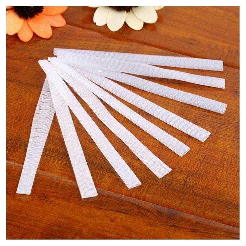 ABVP 100 stücke Machen Up Pinsel Stift Netting Abdeckung Mesh Mantel Protektoren Guards schutzhülle Mantel Net (Weiß)