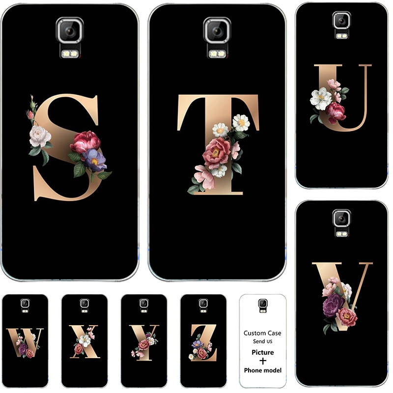 Flower 26 English Name Letters Custom Initial Case For Umi Rome/ Umi Rome X 5.5