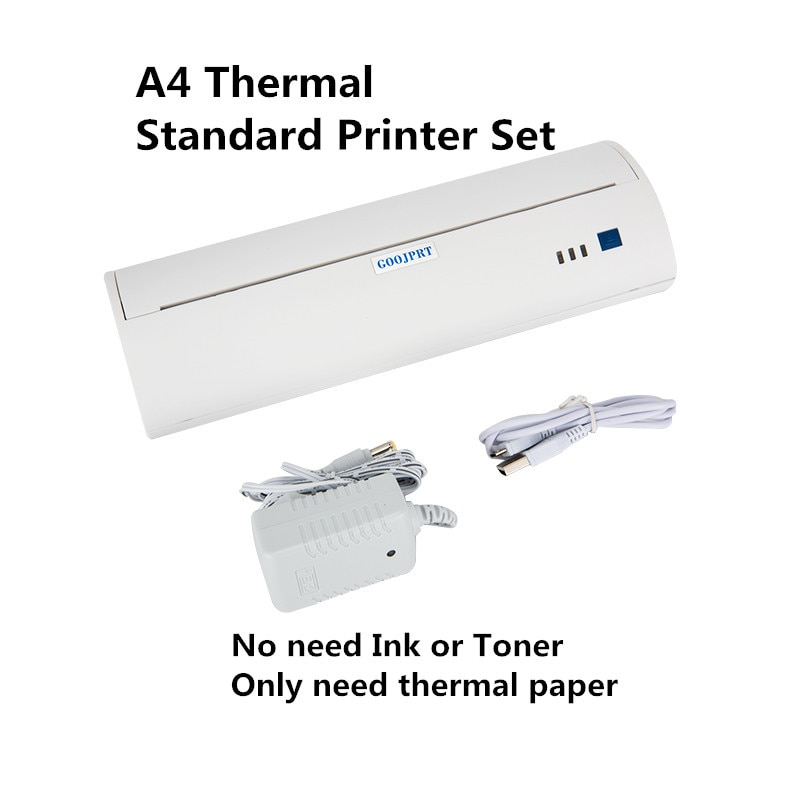 A4 طابعة محمولة بدون حبر وثيقة صغيرة طابعات حرارية الباركود بلوتوث IOS أندرويد الكمبيوتر دعم ملف PDF A4 ورقة Impresoras