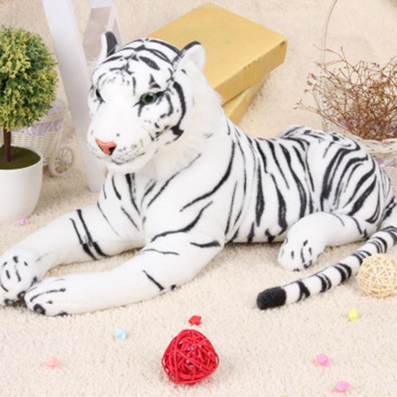 1 шт. имитация тигра плюшевые гигантские Тигры Король джунглей плюшевые игрушки куклы для мальчиков детские рождественские подарки