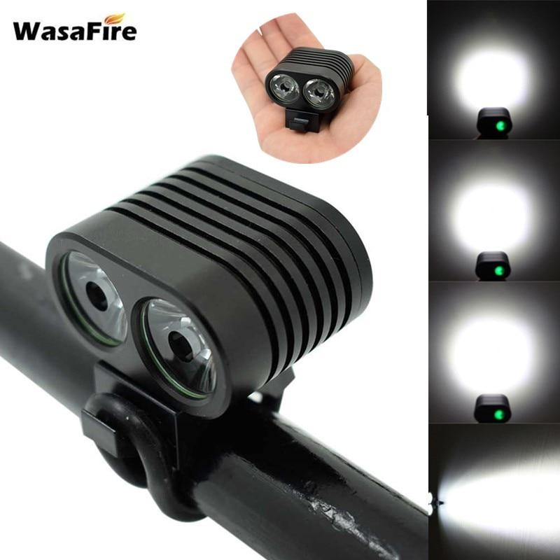 Wasafire Mini 2 * XM-L2 Led Fiets Licht 5000LM Fiets Koplampen 4 Modes Mtb Koplamp Fietsen Lamp + 8.4V 18650 Batterij