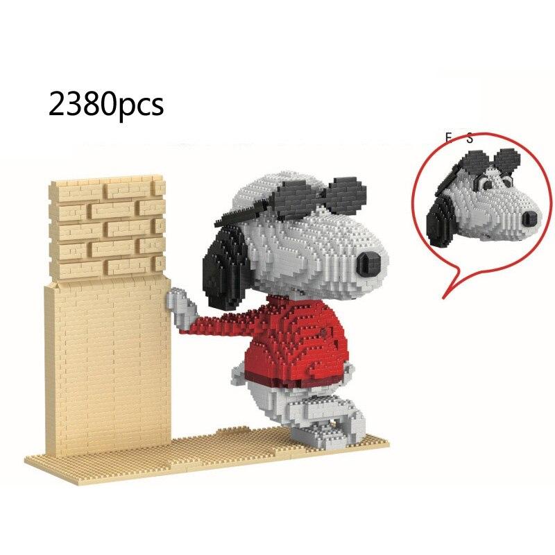 Figuras clásicas de dibujos animados para cachorros encantadores, bloques de micro diamante diy para perros, nanobicks, conjunto de ladrillos de construcción, juguete educativo para regalo de chico