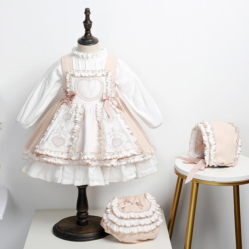 2020 الخريف الاسبانية الأميرة فستان الأطفال الشكر وتتسابق زي عيد الميلاد طفل فتاة الملابس ملابس بوتيك للأطفال