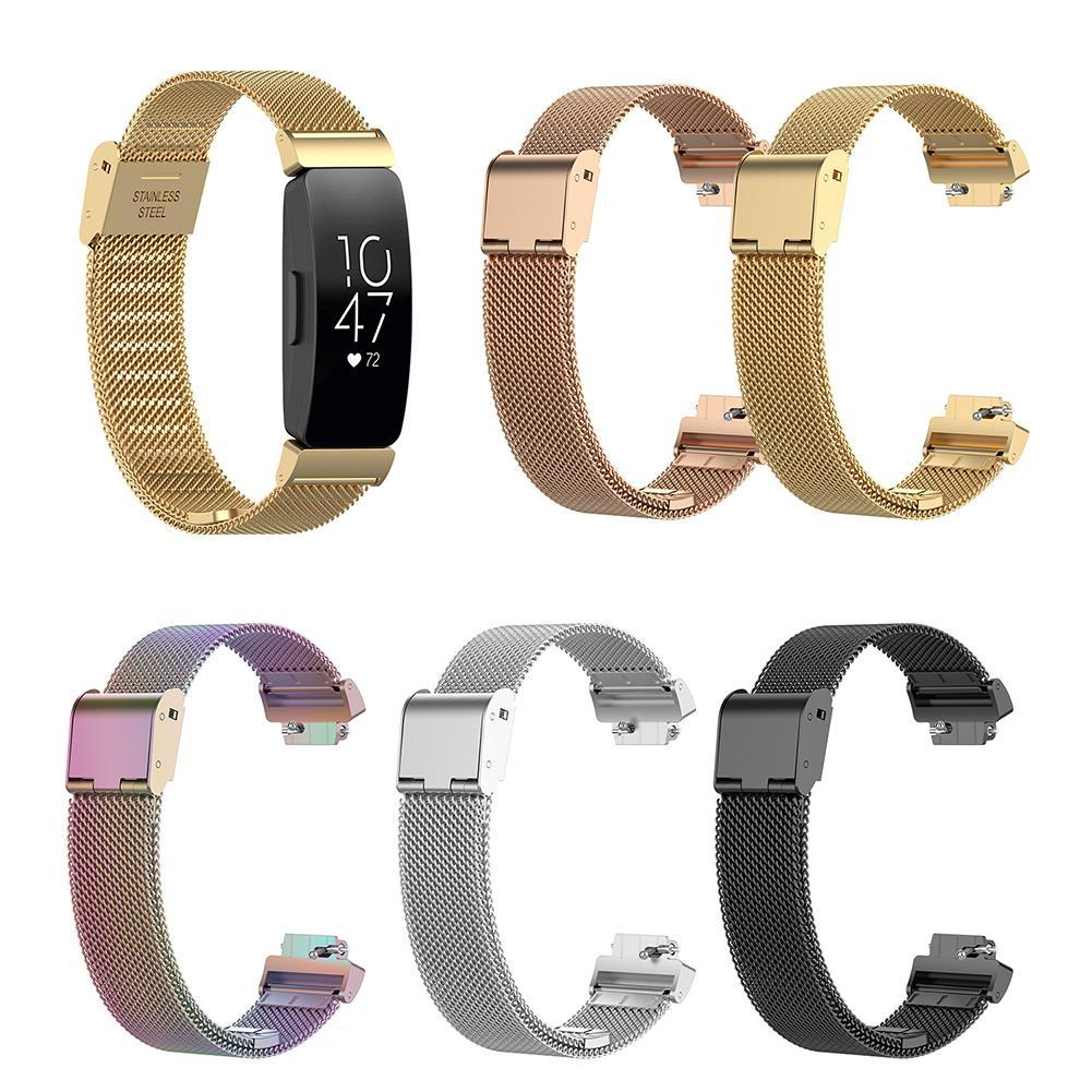 Adjustable Stainless Steel Watch Band Wrist Strap for  Inspire HR/ACE2 Wearable Devices Smart Accessories