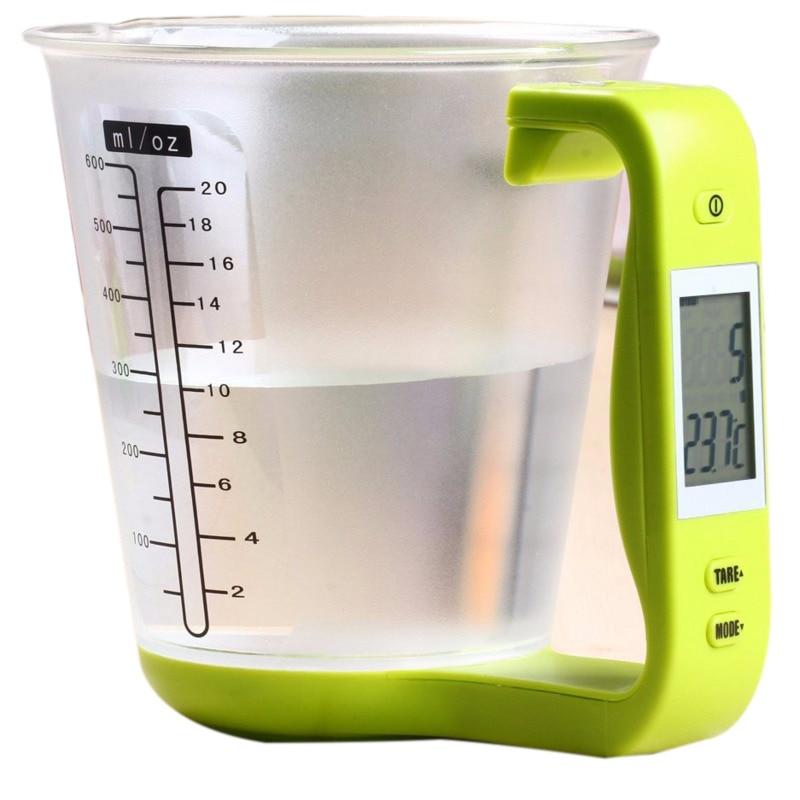 ميزان مطبخ رقمي ، كوب قياس ، أداة إلكترونية ، شاشة LCD ، درجة حرارة ، ملحقات الخبز ، ميزان المطبخ