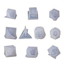 10 pièces/ensemble Transparent époxy moule UV résine bricolage dés moule artisanat faisant des moules T4MD