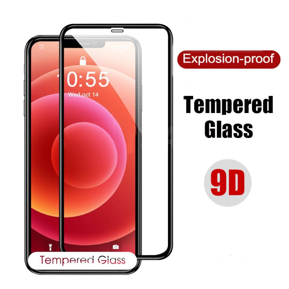 Protective Glass Iphone 8 Plus Screen Protector Iphone 11 12 Pro Max Mini Se 2020 X Xr Xs Max 6 6s 7