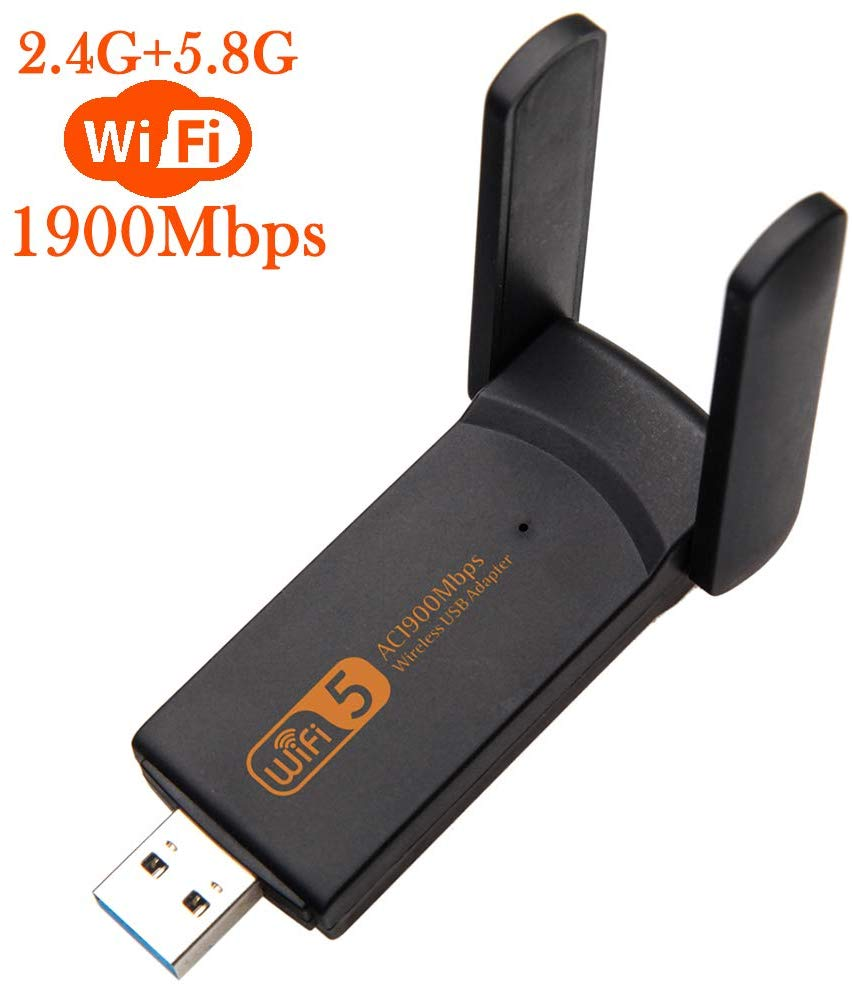 AMKLE adaptador Wifi USB inalámbrico 1900Mbps USB tarjeta de red 1200Mbps adaptador Wifi USB LAN Ethernet Dual banda 2,4G 5,8G tarifa conductor