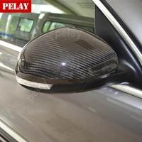 for volkswagen vw tiguan sharan torareg for skoda yeti replacement carbon fiber rear view mirror cover 2007 2016 car styling