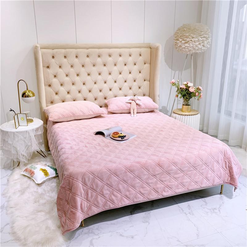 مفرش سرير فاخر ، مفرش سرير ، وسادة ، مخمل ، سميك ، جميع الفصول ، صوف ، قطن ، الفانيلا ، حجم كينغ/كوين