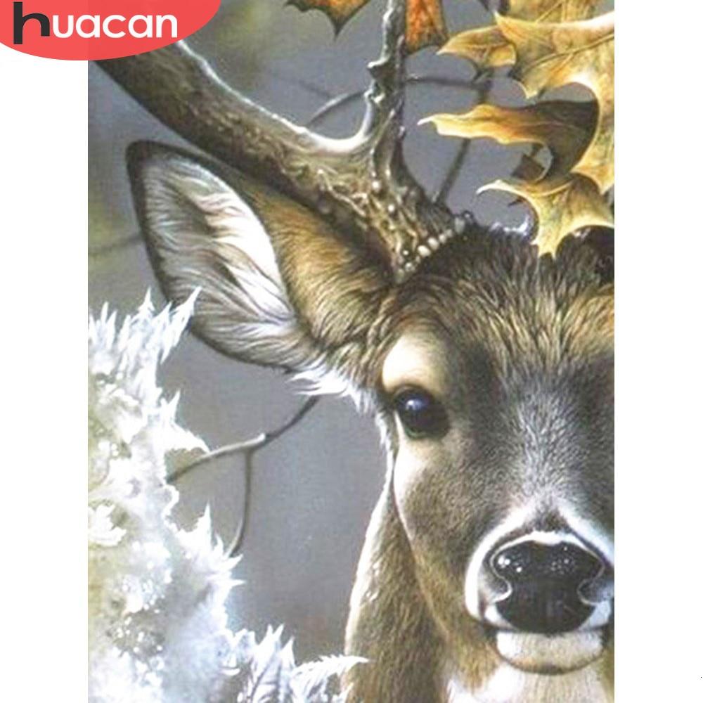 Алмазная живопись HUACAN, полностью квадратная 5D Алмазная мозаика для рукоделия с животными из горного хрусталя, домашний декор, лидер продаж