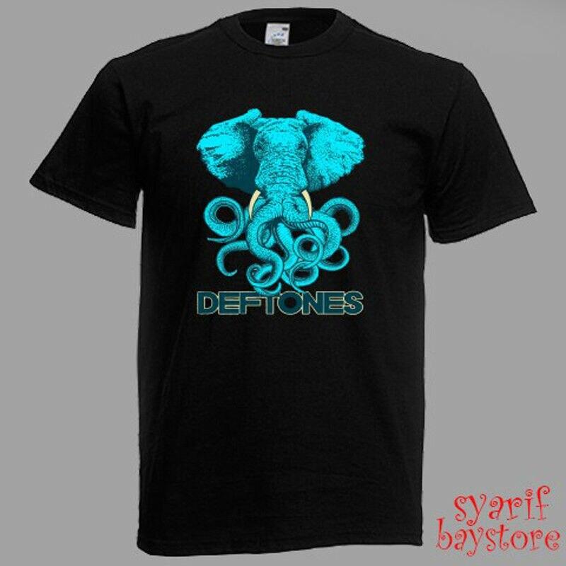 Camiseta negra para hombre con Logo de teatro griego Deftones talla S M L XL 2XL 3XL divertida camiseta para hombre