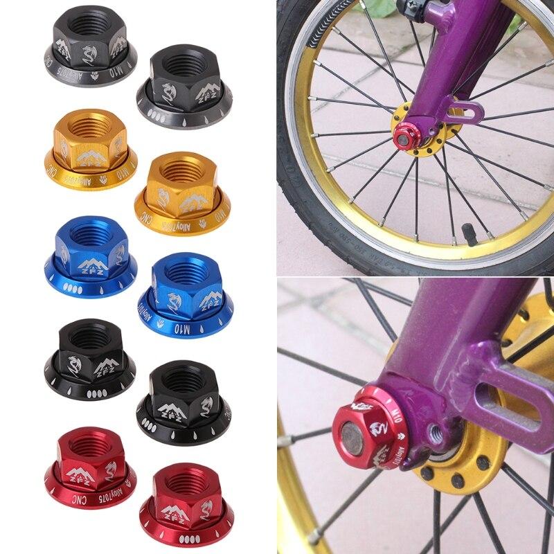 2 unids/bolsa tuerca de cubo de bicicleta M10 piñón fijo MTB tornillo de bicicleta de carretera perno de aleación de aluminio R9CE