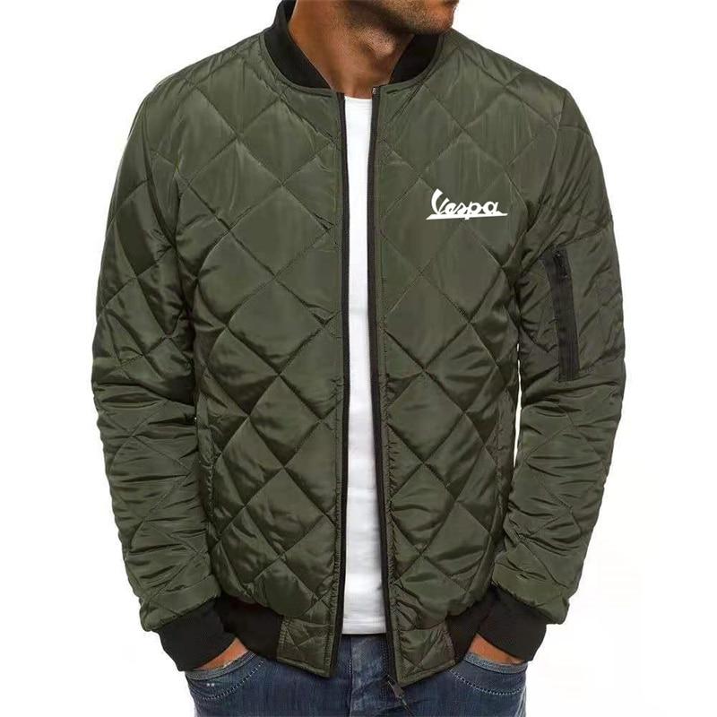 Куртка Vespa Мужская Утепленная на молнии, модная утепленная куртка, классический стиль, зимняя теплая, с воротником-стойкой, для снежной пого... фото