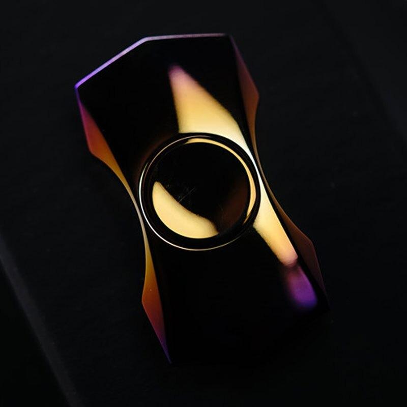 Star Trek Three-Angle Fingertip Gyro Zirconium Alloy Titanium Alloy Stainless Steel Decompression Toy EDC enlarge