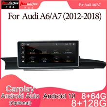 Android 10 Car Multimedia DVD Stereo Radio Player GPS Navigation Carplay Auto for Audi A6/A7(2012-20