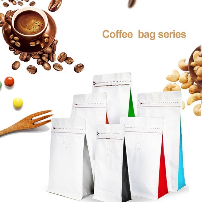 Lote de 20 bolsas vacías de aluminio para envasado de granos de café con válvula, bolsa de té para comida y fruta, regalo