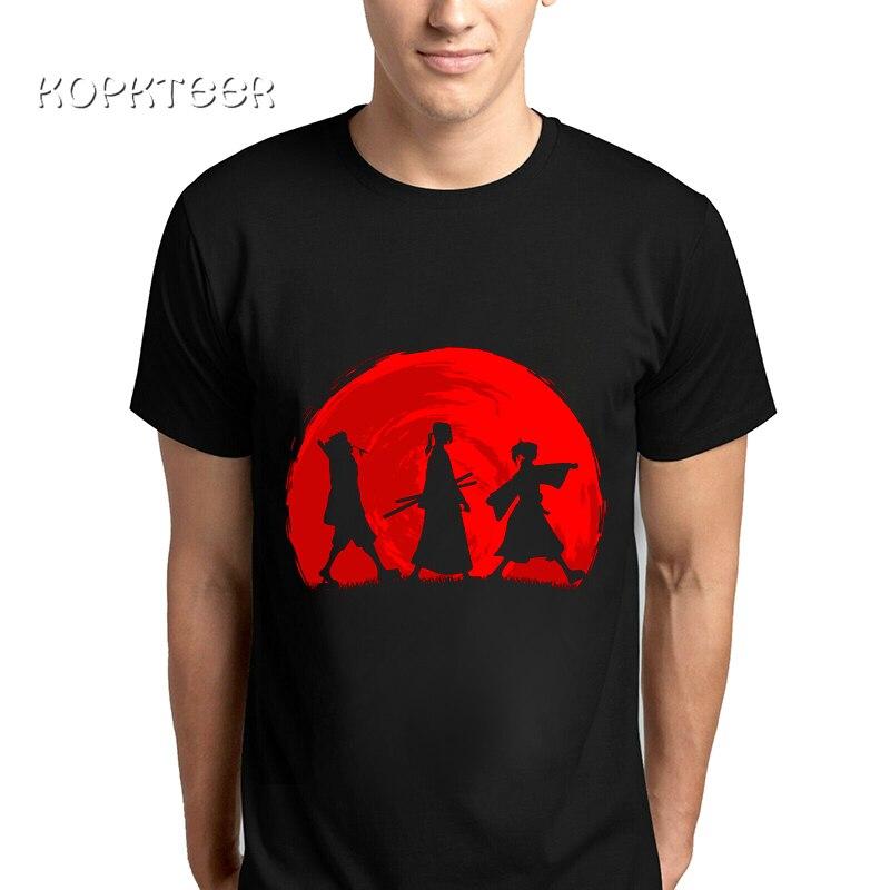 Camiseta guay de Hip Hop para hombre, camisetas con estampado Samurai battle Mugen Jin Foul de Anime de una pieza para verano, camiseta de manga corta para hombre