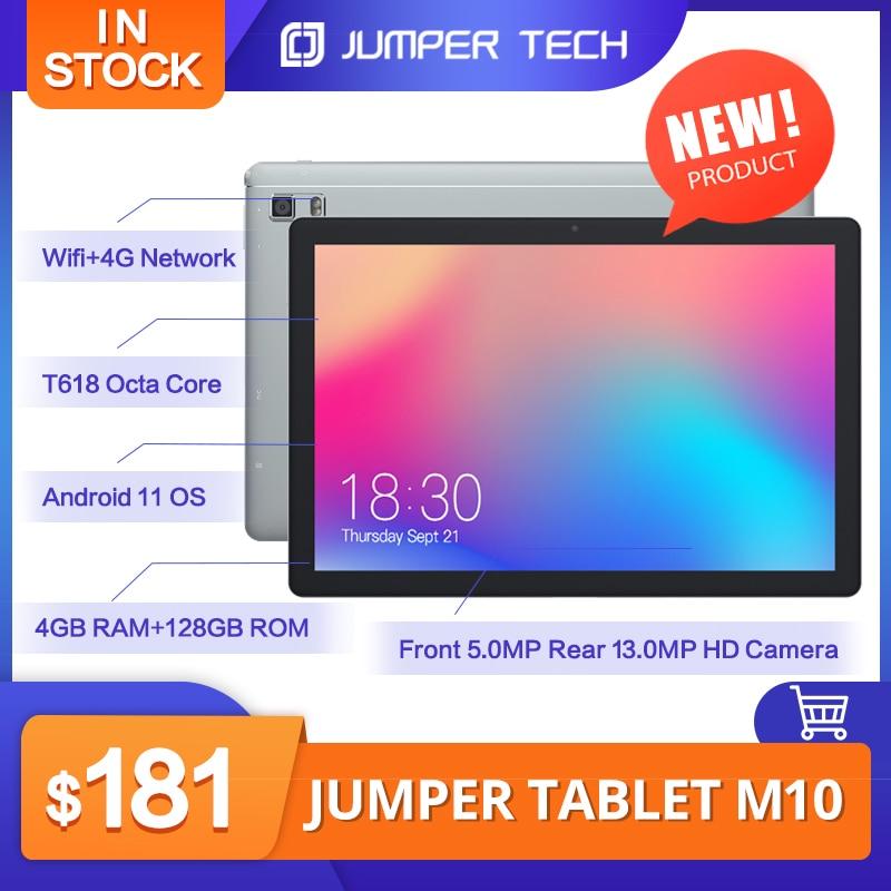 2021 Newest Jumper M10 10.1 inch Tablet  Android 11 4GB RAM 128GB ROM UNISOC T618 Octa Core 13MP Camera Wifi 5G Bluetooth 5.0