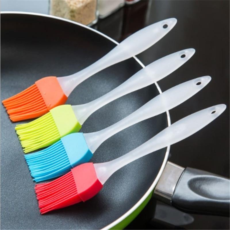 5 colores silicona hornear pan cocinar cepillos aceite de pastelería BBQ cepillo de hilvanado herramienta de cocina accesorios Gadget