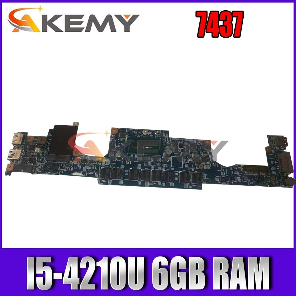 Akemy 12310-1 PKNM5 لديل انسبايرون 7437 اللوحة الأم I5-4210U 6GB ram CN-0W5PG0 W5PG0 اللوحة الرئيسية 100% اختبارها