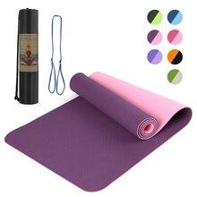 TPE tapis de Yoga tapis de Fitness tapis de gymnastique Double couche antidérapant débutant Sport tapis coussinets homme femmes 6mm tapis Yoga