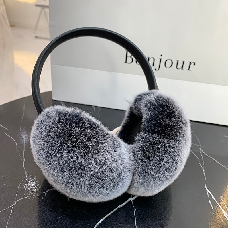 Rex Rabbit Fur Earmuff Women's Autumn and Winter Warm Earmuffs Earmuff Real Fur Ear Cover Ear Warmer