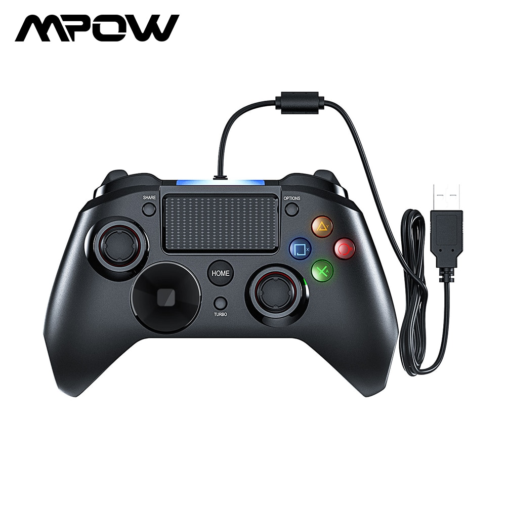 Mpow Wired Gamepads Spiel LED Licht Gamepads Controller USB Gamepad Mit Und Trigger Bottouns Gamepads Für PS4/PS3/win/Android TV