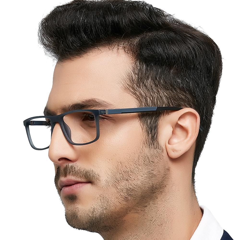 Gafas de lectura MARE AZZURO TR90 para hombre, gafas de presbicia ultraligeras con marco clásico negro claro TR90 + 1,0 + 1,5 + 2,0 a + 6,0
