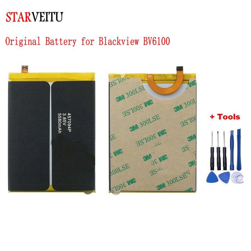 STARVEITU Battery for Blackview BV6100 5580mAh Original Bateria 6.88