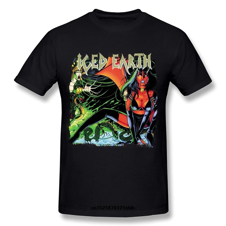 Camiseta de hombre Camiseta de moda divertida de verano de manga corta suelta negra tierra helada camiseta de novedad para mujer