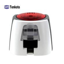 Impresora de tarjetas USB 300 DPI con Software banco de impresión membresía VIP Chip IC magnético NFC OEM impresora de tarjeta de PVC