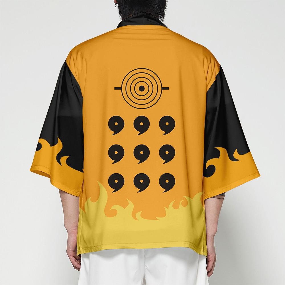 "WAMNI Аниме кимоно японский кардиган Мужская футболка костюм самурая уличная 3D рукав ""летучая мышь"" футболка Забавный Haori Yukata мужской"