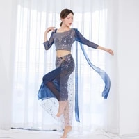 belly dance costumes sequins mesh yarn sexy handmade embroidery women 2021 indian egyptian performance stage buttock towel dress