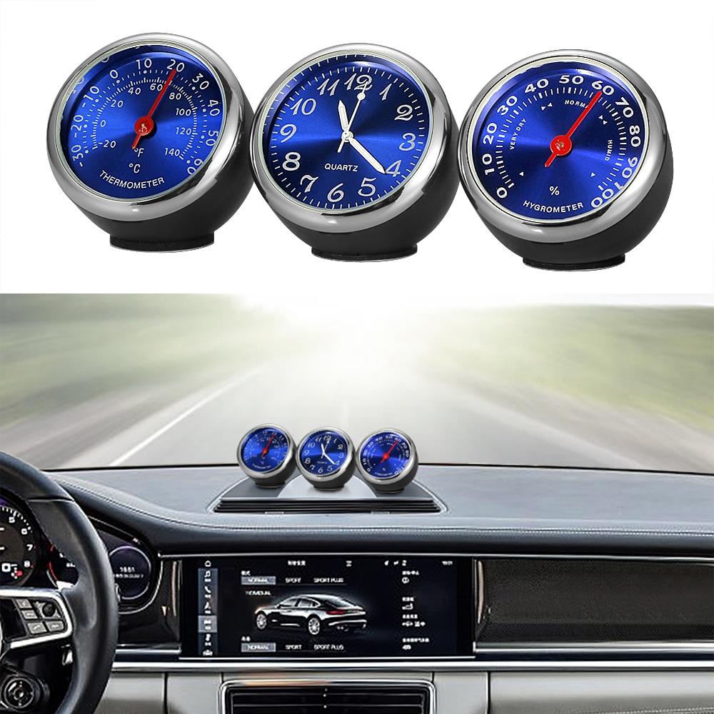 Автомобильные часы, автомобильные часы, термометр, гигрометр, украшение салона автомобиля, автомобильные часы, аксессуары для автомобиля