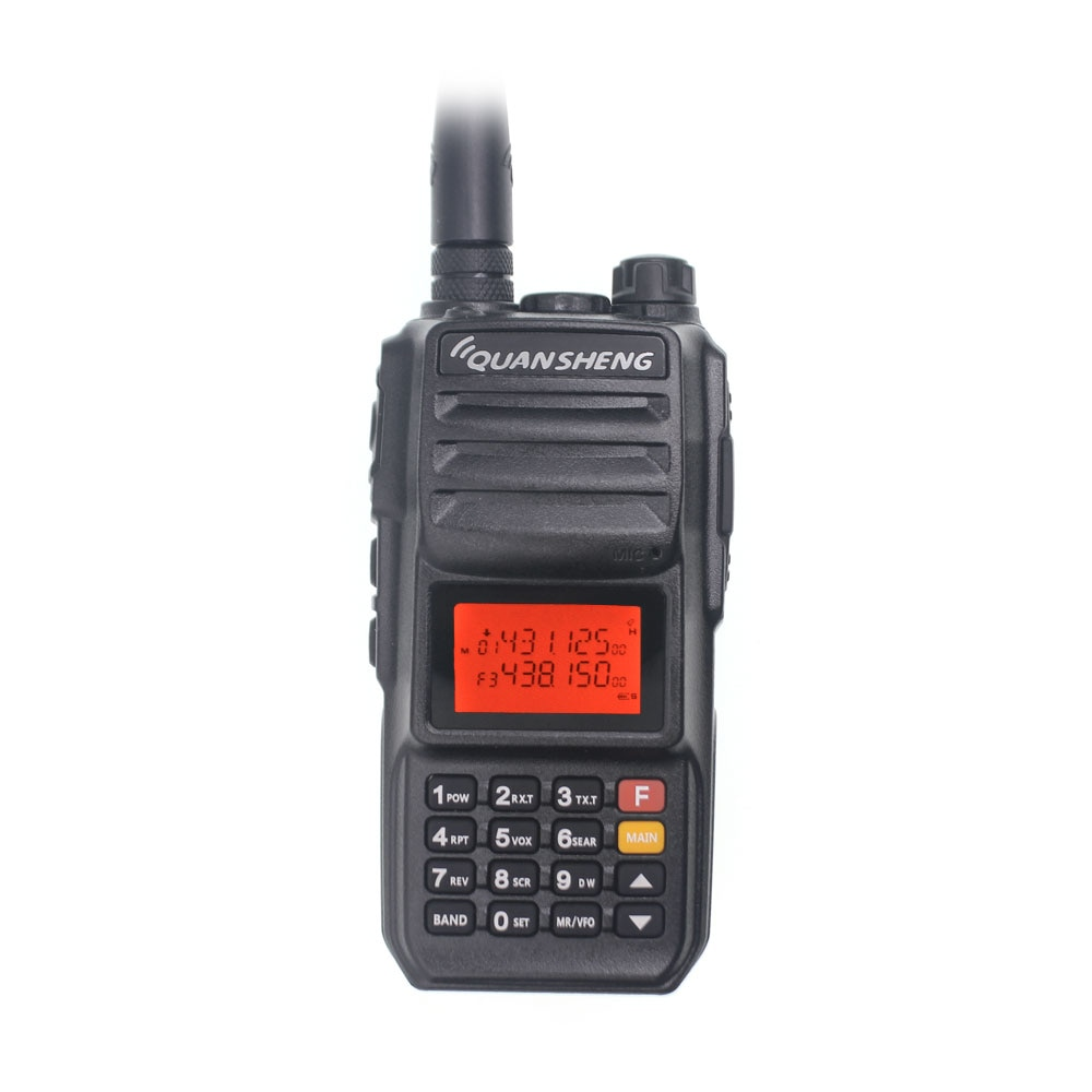 Walkie-Talkie 10KM QuanSheng TG-UV2 Plus 10W Long Range Talkie Walkie 10KM 4000mah Radio 10 KM vhf uhf Dual Band Analog UV2Plus